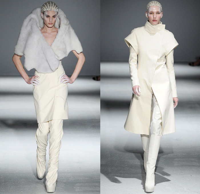 gareth-pugh-2014-2015-fall-autumn-winter-paris-pret-a-porter-fashion-womens-runway-drapery-plastic-white-kimono-robes-funnelneck-ruffles-furry-metallic-06x