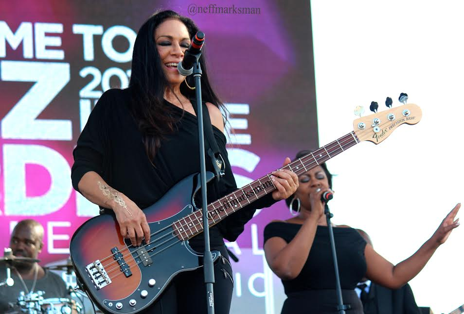 Sheila E. performing at this year Jazz In the Gardens in Miami
